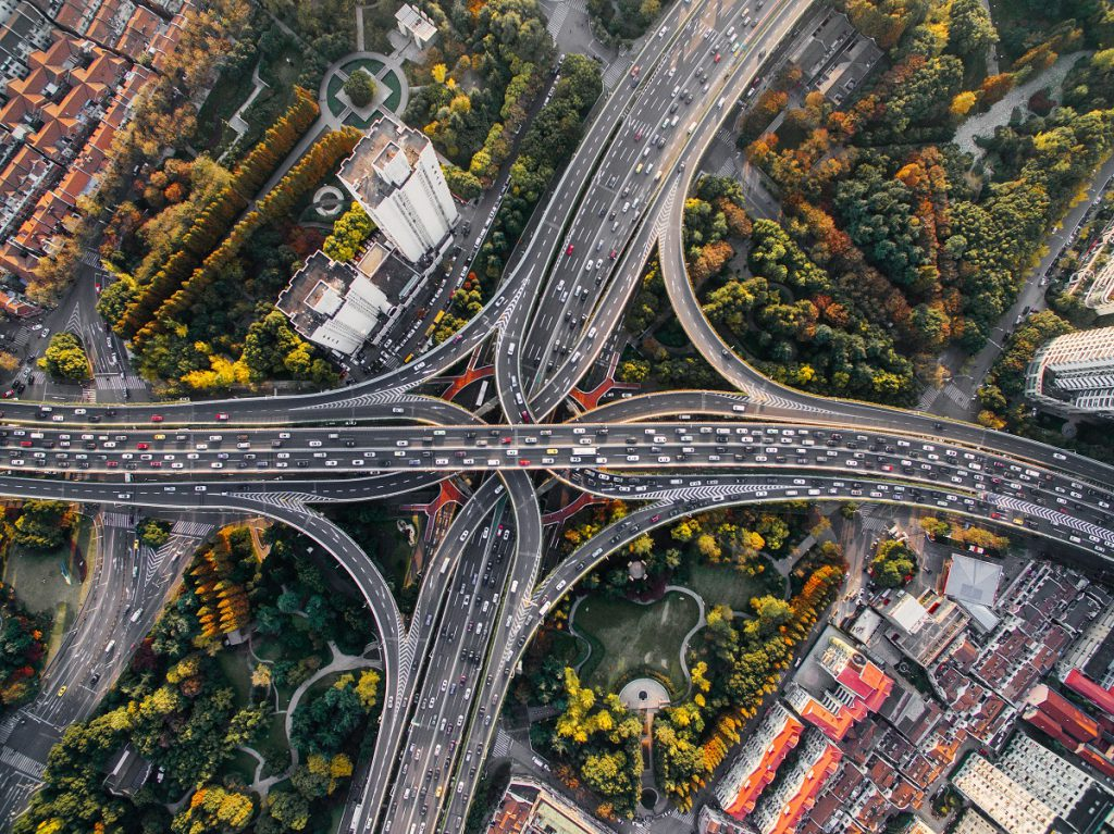 Connecting roads in Shanghai. Pic: Unsplash