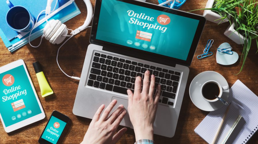 online shopping e-commerce laptop retail
