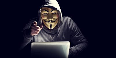 hacker anonymous laptop