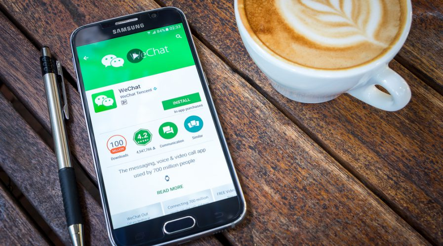 samsung phone wechat coffee app