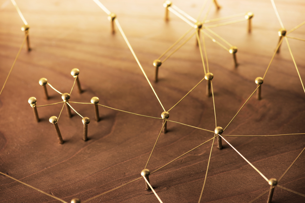Network, networking, social media, internet communication abstract