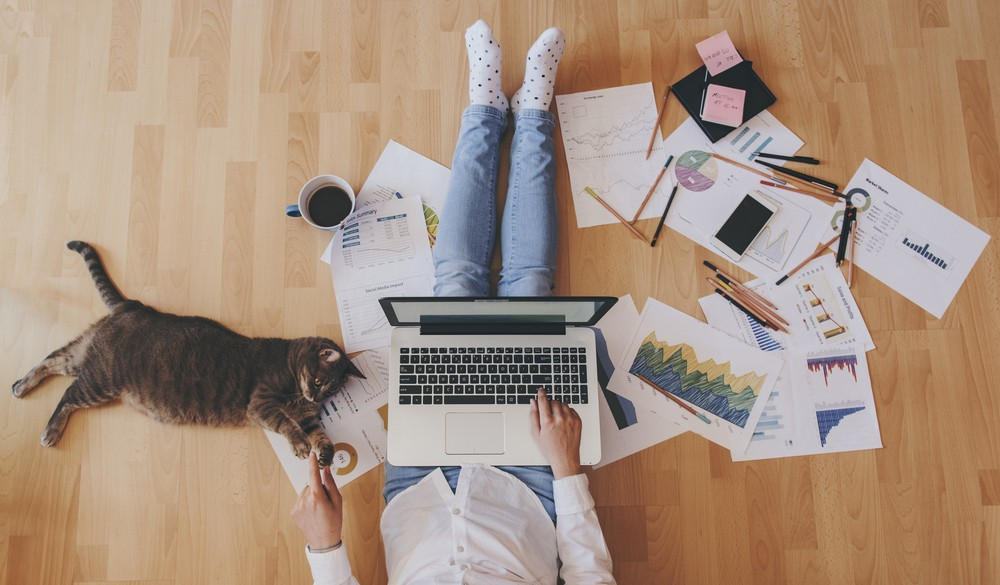 working from home remote worker