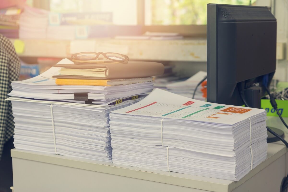 data information paper piles