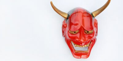 Japanese devil mask