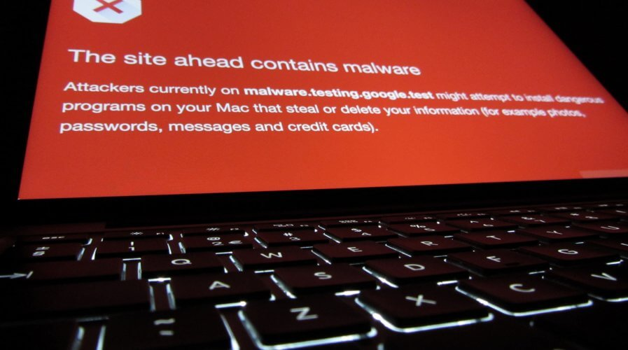 malware warning