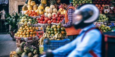 a street vendor selling fruits