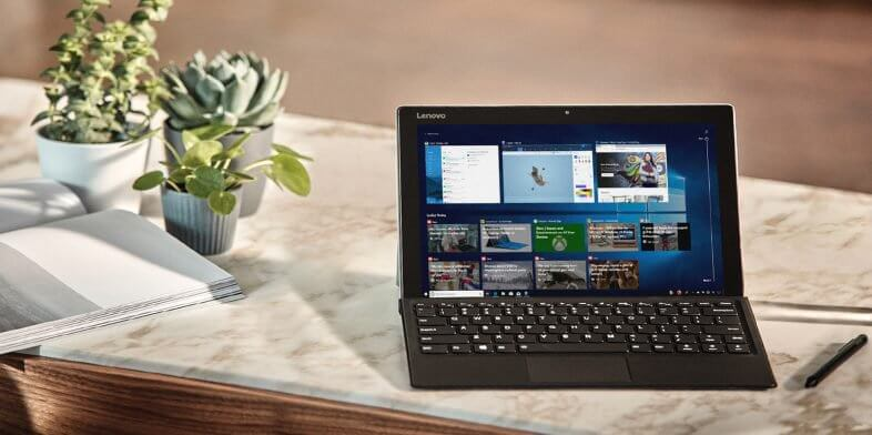 a laptop with windows 10 startup screen