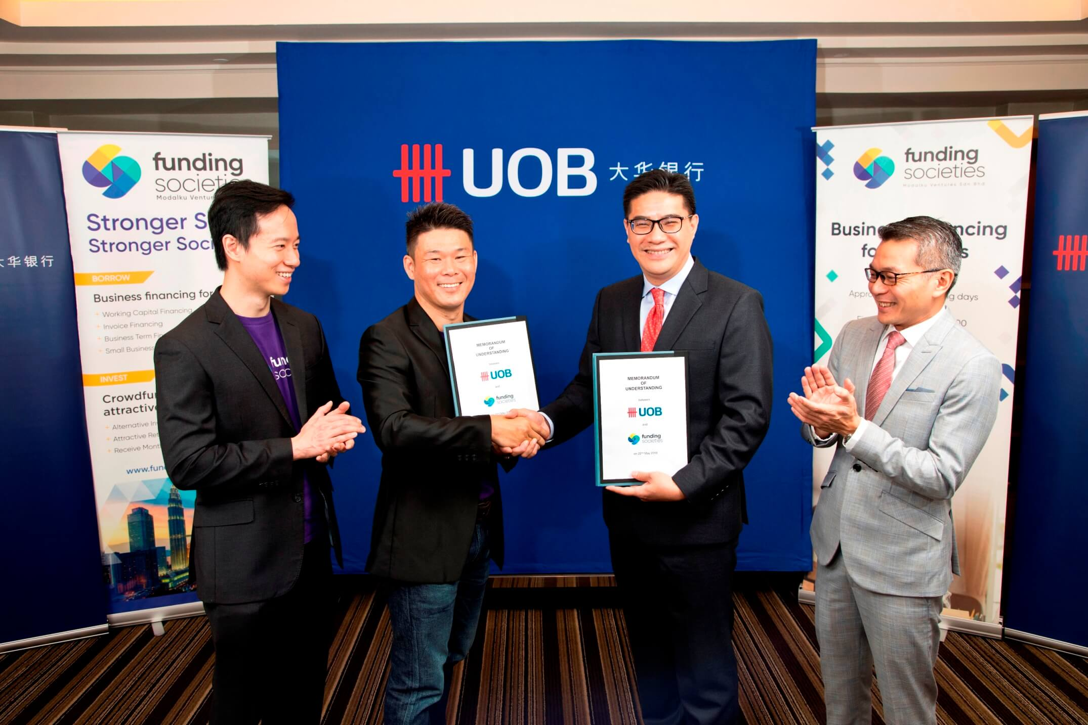 UOB and Funding Societies signed an agreement for partnership