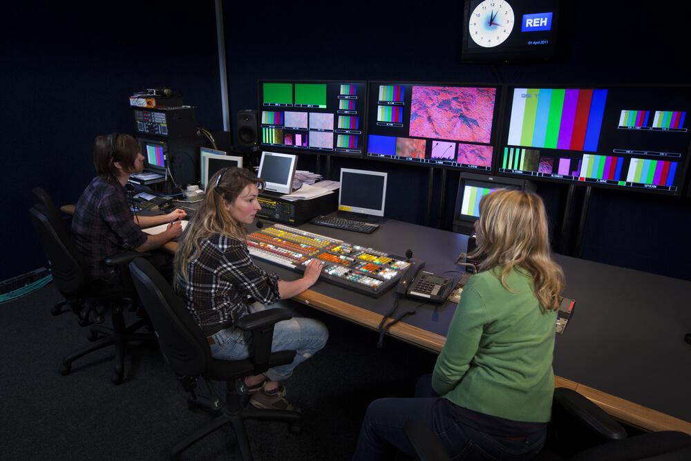 a TV control room