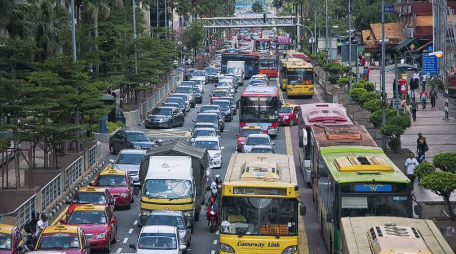 Singapore traffic jams
