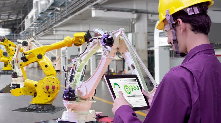 "Swiss robotic giant ABB is build the ""world's most advanced, automated and flexible robotics factory - a cutting-edge center where robots make robots."" Source: Shutterstock"