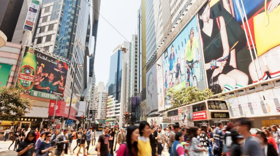 The retail scene in Hong Kong is advancing quickly.