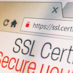 a website with SSL certificate