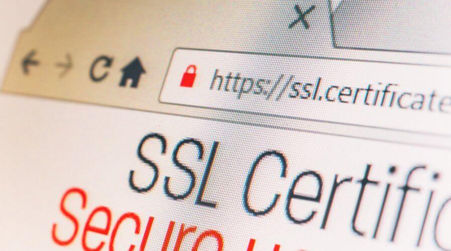 a website with SSL certificate