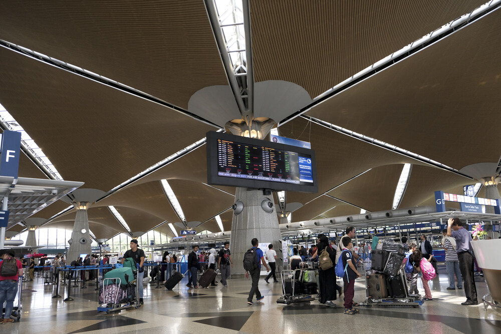 the departure hall in KLIA