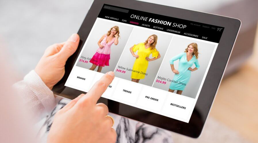 Fashion doesn't entirely mix with e-commerce, does it?