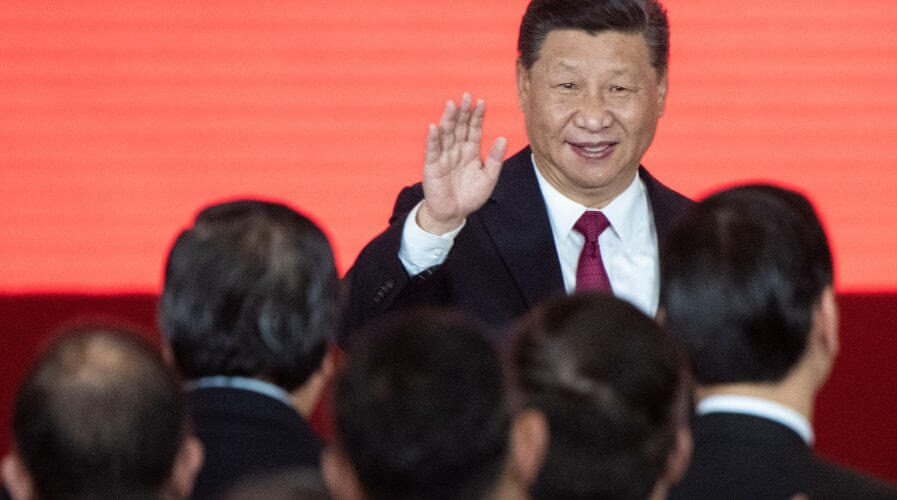 (FILE) China's President Xi Jinping attends the opening ceremony of the Hong Kong-Zhuhai-Macau Bridge at the Zhuhai Port terminal on October 23, 2018. Source: AFP