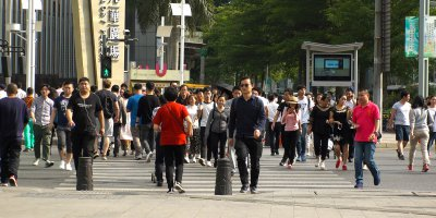 "Surveillance system using ""gait recognition"" networks are already watching citizens on the streets of Beijing and Shanghai. Source: Shutterstock.com"
