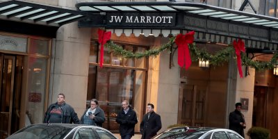 (File) Last Friday, Marriott International announced a system breach leaving private details - including names, credit card numbers, mailing addresses, and passport numbers - of about 500 million of its customers reported stolen. SOURCE: Scott Olson/Getty Images/AFP