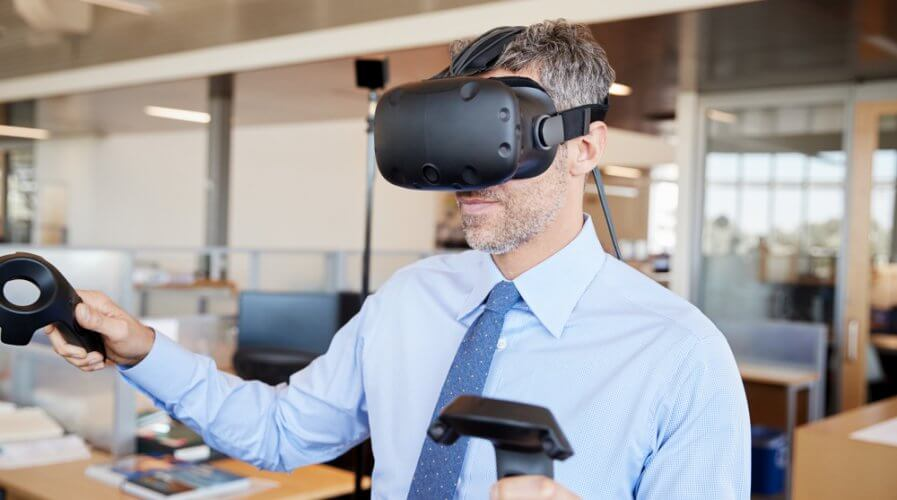 AR and VR are making heads turn in the office. Source: Shutterstock