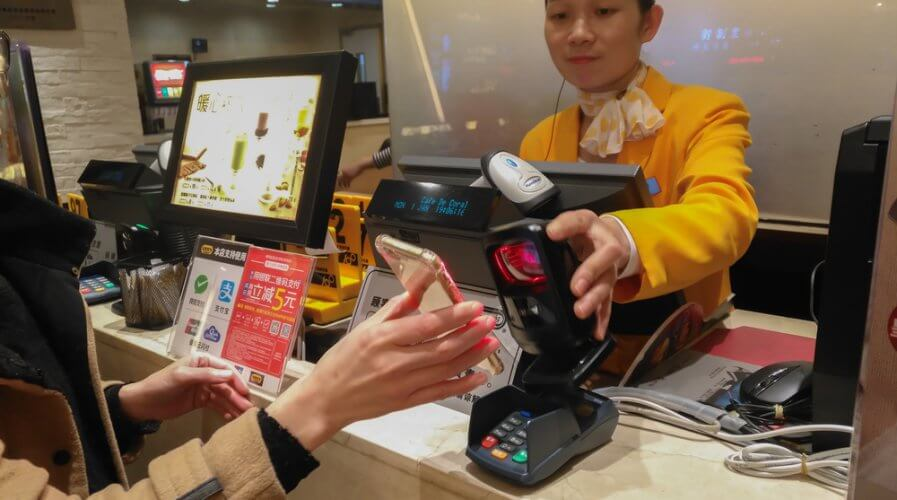 China now seems to prefer cashless transactions. Source: Shutterstock