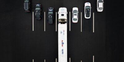 A fleet of Baidu's autonomous vehicles on a highway in China. Source: Baidu