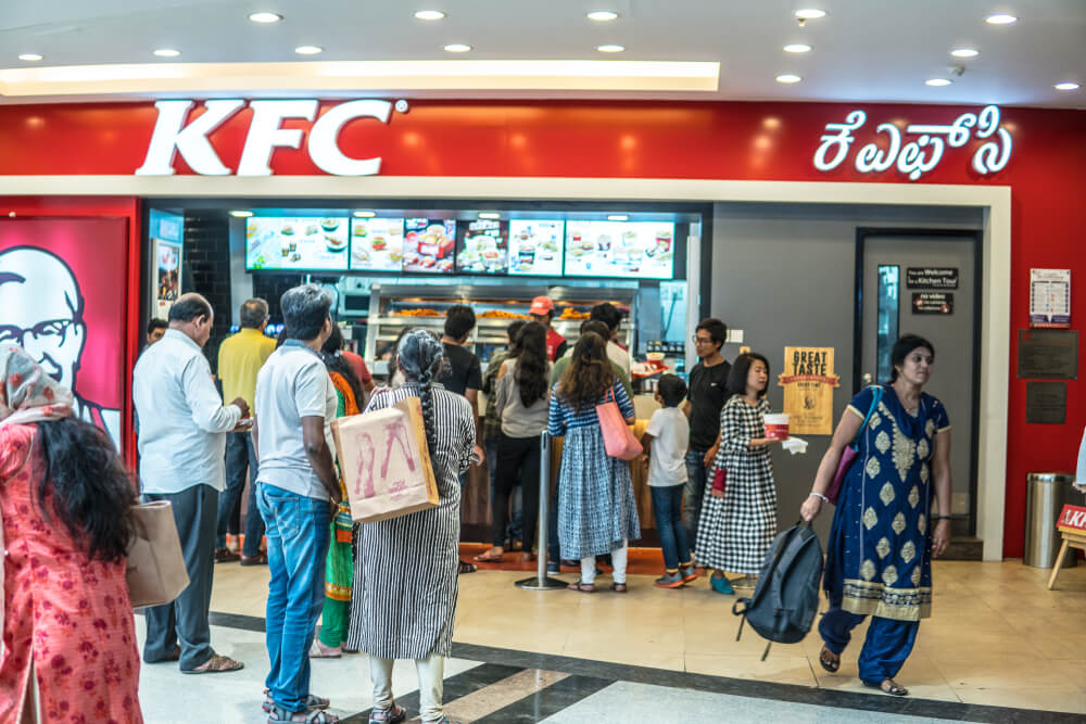 KFC India uses voice marketing. Source: Shutterstock