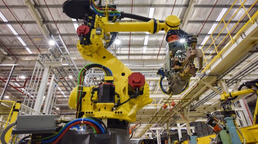 The robotics industry has been hard hit by the rising price of steel imports due to the ongoing trade wars between the US and China. Source: Shutterstock