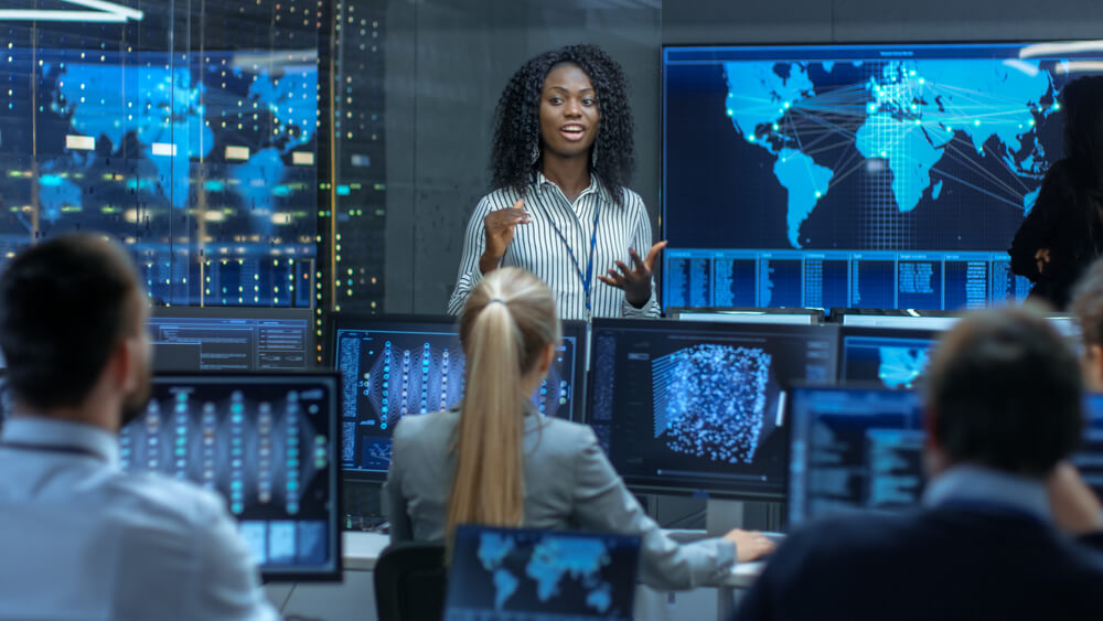 Augmented analytics to simplify acquiring business intelligence. Source: Shutterstock