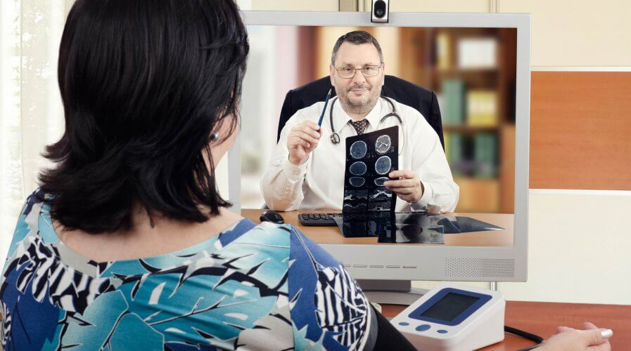 Telehealth providers allow patients to connect with doctors via video call, phone call or texting. Source: Shutterstock