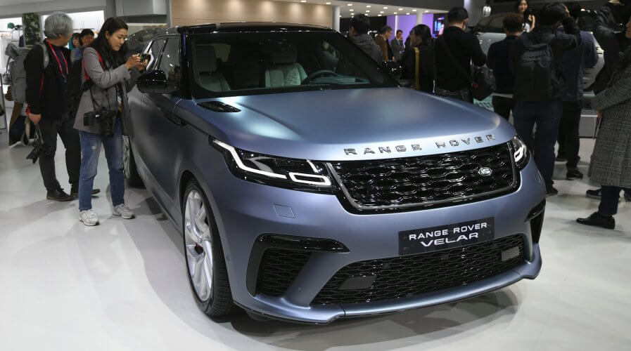 British car-maker Jaguar Land Rover is trialing a block chain powered smart wallet which will reward drivers for sharing their data. Source: JUNG Yeon-Je / AFP