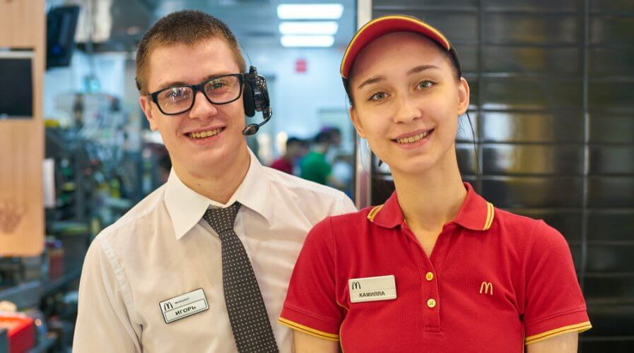 McDonald's sure knows how to boost employee experience. Source: Shutterstock
