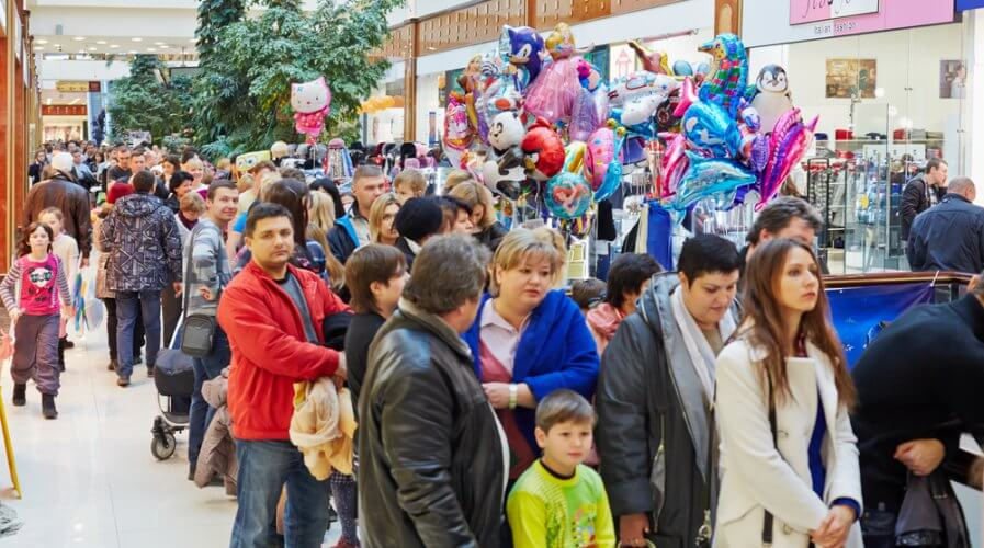 People go to malls because of the experience. Source: Shutterstock