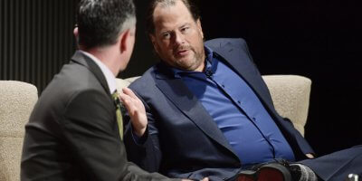 (Pictured) Salesforce CEO Marc Benioff. Source: Matt Winkelmeyer / Getty Images for WIRED25 / AFP