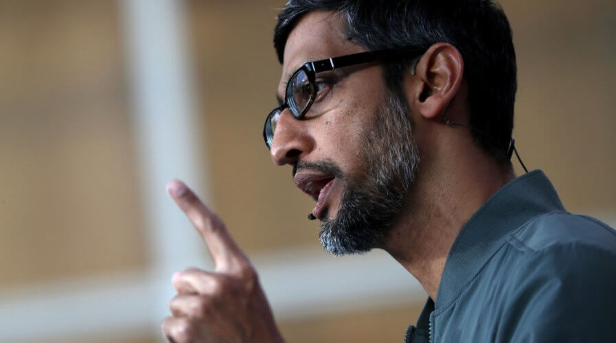 Privacy is an issue that's driven by CEO Sundar Pichai at Google. Source: Justin Sullivan/Getty Images/AFP