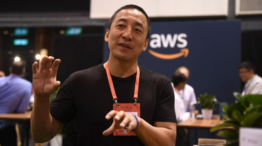 GIPHY CEO Alex Chung at RISE 2019 Conference. Source: Harry Murphy/RISE via Sportsfile