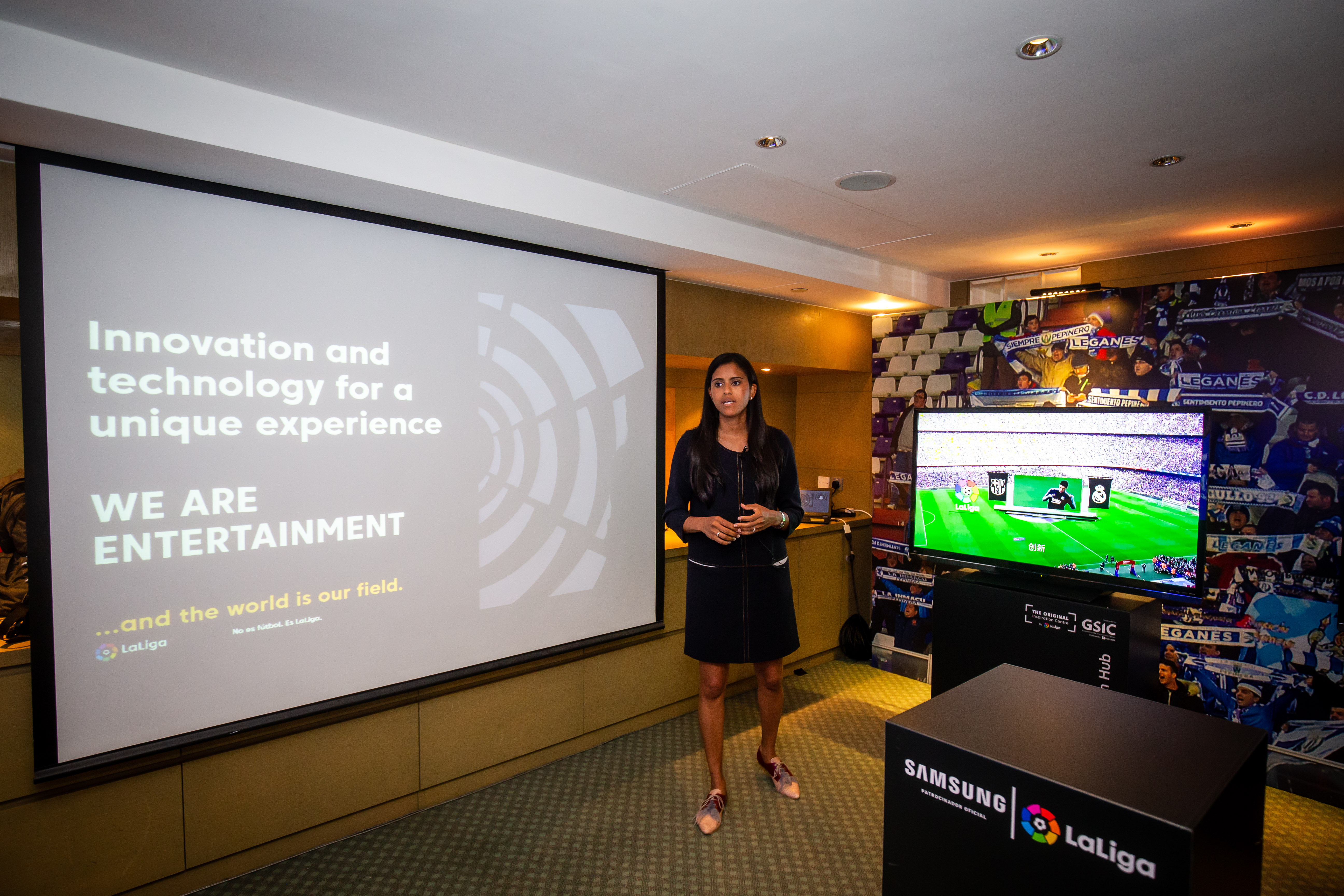 LaLiga Innovation and Global Development Director Minerva Santana during a presentation at RISE 2019 Conference. Source: LaLiga