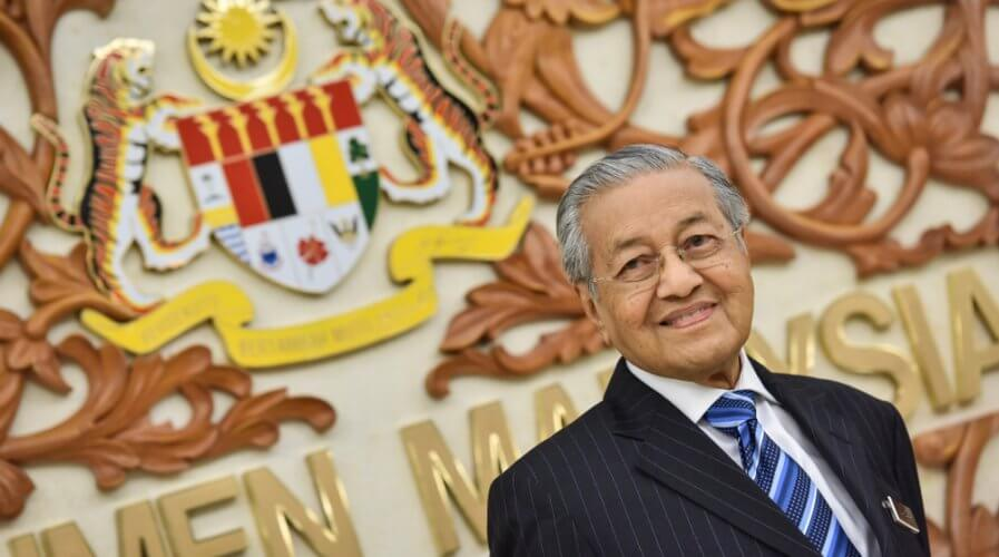 Malaysian PM Mahathir Mohamad and Minister of Communications and Multimedia Gobind Singh Deo keen on 5G implementation. Source: Shutterstock
