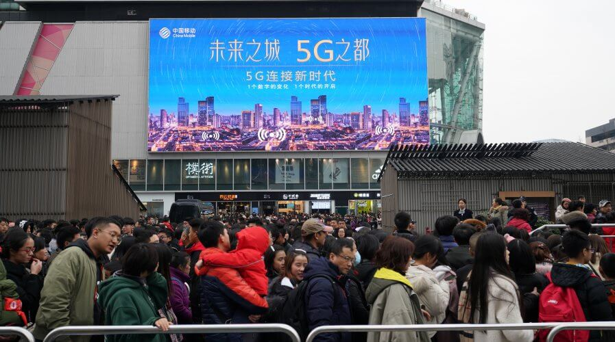 China's 5G network investments are predicted to surpass those in North America in the next few years. Source: Shutterstock