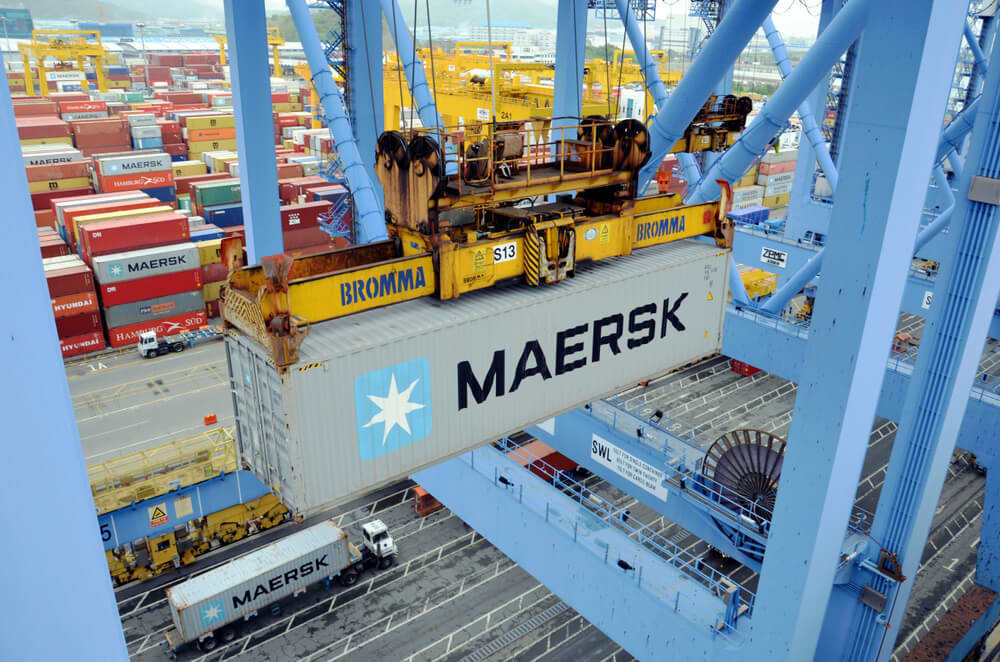 Maersk's customers can ow book shipping containers online. Source: Shutterstock