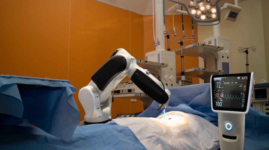 5G can make it possible for doctors to remotely perform surgery via robots. Source: Shutterstock