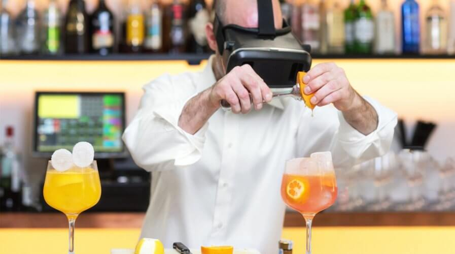 Food industry workers can develop higher job satisfaction when trained using virtual reality technology. Source: Shutterstock