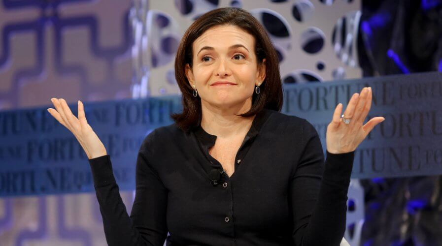 Facebook COO Sheryl Sandberg and her team are working on educating stakeholders about AI. Source: Shutterstock