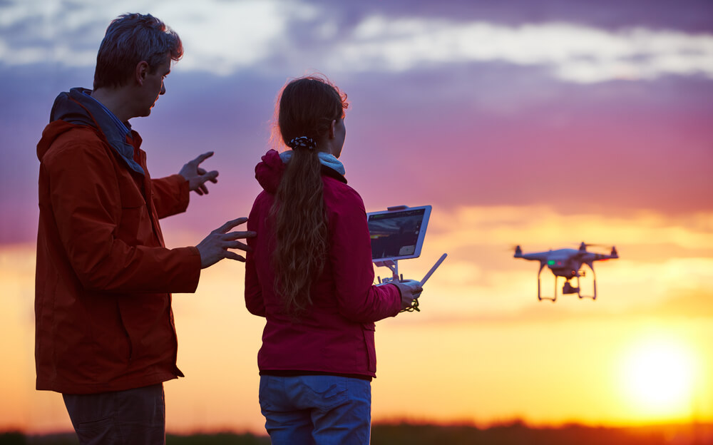 Drone technology will excite customers who seek for express deliveries. Source: Shutterstock