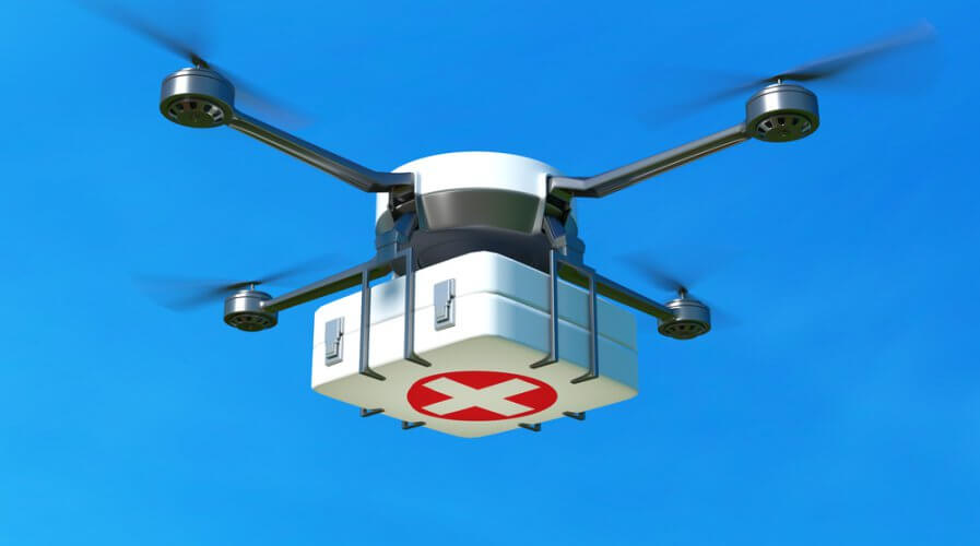 Drones are going to be delivering medicines soon. Source: Shutterstock