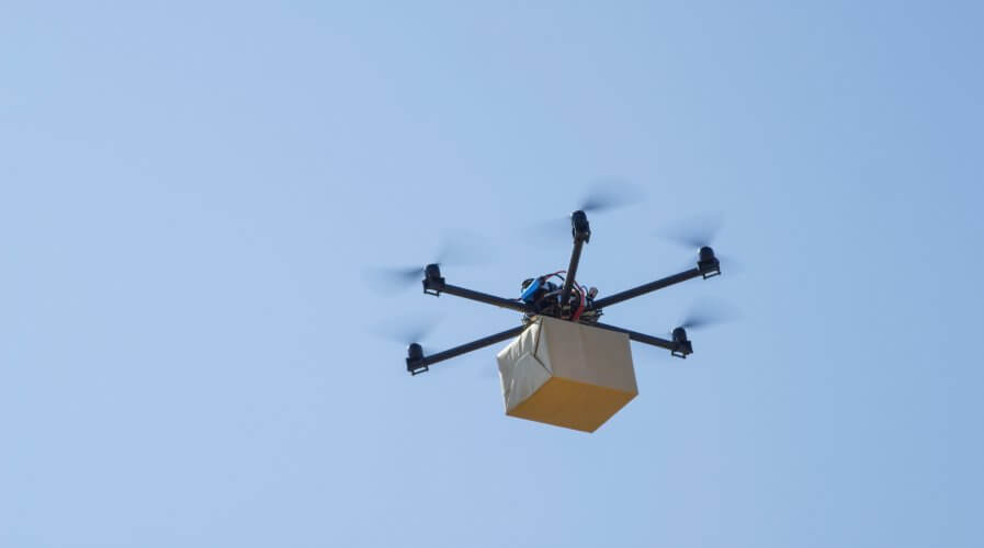 Drones are set to deliver blood samples and chemo kits in the UK. Source: Shutterstock.