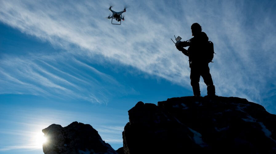 A pilot testing out his UAV. Source: Shutterstock.