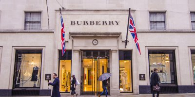Fashion giant Burberry has a strong global presence. Source: Shutterstock.