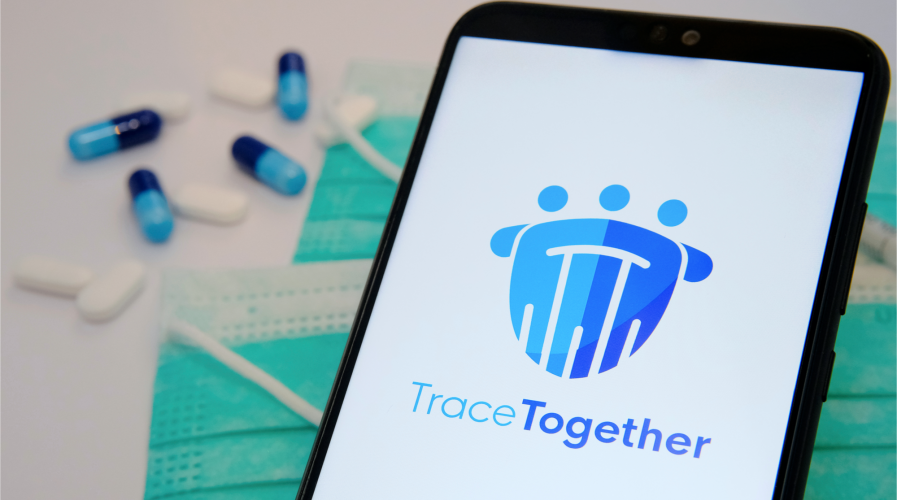 Singapore's TraceTogether app.