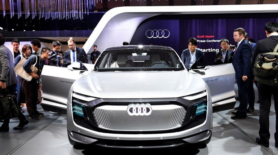 The unveiling of an Audi EV concept vehicle, which might soon feature 5G-ready HiCar onboard system from Audi partners Huawei.